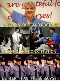 Good question. (MB): WHY DO NURSES AND DOCTORS  DEFEND THE CONSTRUTION  BETTER THAN THESE GUYS? Good question. (MB)