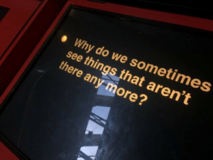 Any More: Why do we sometimes  see things that aren't  there any more?