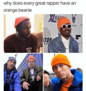 Assistant to the regional manager: why does every great rapper have an  orange beanie  ITO  EDI Assistant to the regional manager