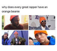 Funny, Straight Outta, and Orange: why does every great rapper have an  orange beanie  RAT  IS B  SIDE  FREEMA  RATO  N FI Straight Outta Scranton.