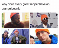 Funny, Orange, and Why: why does every great rapper have an  orange beanie  S B  SIDE  FREEMA  RATO  N FIL  VA Scranton represent! https://t.co/EBf9OFECyP