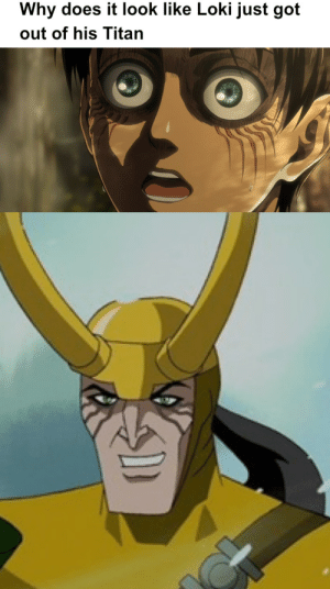 I noticed this while rewatching Avengers:EMH: Why does it look like Loki just got  out of his Titan I noticed this while rewatching Avengers:EMH