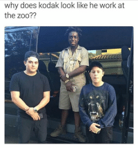 Real talk.: why does kodak look like he work at  the zoo?? Real talk.