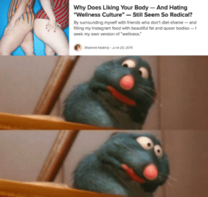 """yeah can I get uhhh: Why Does Liking Your Body  And Hating  """"Wellness Culture""""- Still Seem So Radical?  By surrounding myself with friends who don't diet-shame- and  filling my Instagram feed with beautiful fat and queer bodies -1  seek my own version of """"wellness.""""  Shannon Keating  June 20, 2019 yeah can I get uhhh"""