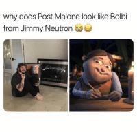 the last post on @omg has me dying😂: why does Post Malone look like Bolbi  from Jimmy Neutron the last post on @omg has me dying😂