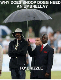 Instagram: @punsonly Twitter: @puns_only: WHY DOES SNOOP DOGG NEED  AN UMBRELLA?  FO' DRIZZLE Instagram: @punsonly Twitter: @puns_only