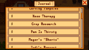 Why does the game keep trying to trick me into growing crops when there is not enough time left in the season to grow said crop? I keep getting mail quests I cannot possibly complete. There was Cauliflower, then Melon and Peppers, and now a Pumpkin. Only on Year 1, but thank gawd for the Wiki.: Why does the game keep trying to trick me into growing crops when there is not enough time left in the season to grow said crop? I keep getting mail quests I cannot possibly complete. There was Cauliflower, then Melon and Peppers, and now a Pumpkin. Only on Year 1, but thank gawd for the Wiki.