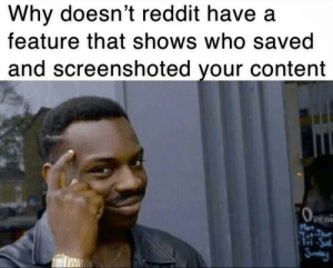 Reddit, Content, and Who: Why doesn't reddit have a  feature that shows who saved  and screenshoted your content  peni NONE CAN STEAL OC