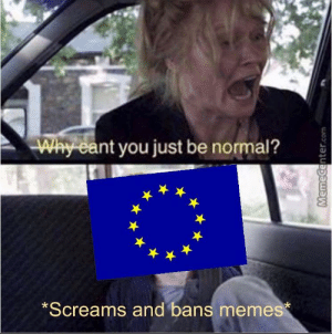 Is this too early?: Why  eant you just be normal?  Screams and bans memes Is this too early?