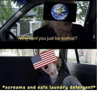 9gag, Laundry, and Memes: Why eant you just be normal?  *screams and eats laundry detergent* It was supposed to be a joke initiated by the Onion news... - tidepods 9gag