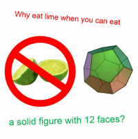 Time, Can, and Lime: Why eat lime when you can eat  a solid figure with 12 faces? No time for lime https://t.co/Bis8VxuYQC