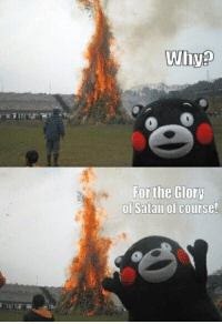 Satan, Glory, and Why: Why?  For the Glory  of Satan of course!