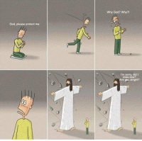God, Memes, and Sorry: Why God? Why?  God, please protect me  I'm sorry, did I  miss one?  Are you alright? really touching.... https://t.co/XmKkKHJuB1