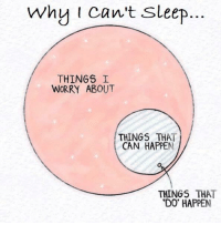 why i cant sleep  THINGS I  WORRY ABOUT  THINGS THAT  CAN HAPPEN  THINGS THAT  DO HAPPEN