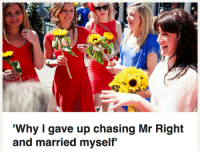 "Target, Tumblr, and Blog: 'Why I gave up chasing Mr Right  and married myself <p><a href=""http://itsagifnotagif.com/post/164941619012/me-in-10-years"" class=""tumblr_blog"" target=""_blank"">itsagifnotagif</a>:</p><blockquote><p>Me in 10 years</p></blockquote>"