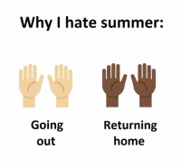 i hate summer: Why I hate summer:  Going  Returning  home  out