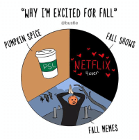 "FALL MEMES 🙌🙌 (🎨: @courregedesign): ""WHY IM EXCITED FOR FALL""  @bustle  FALL SHOWS  PUMPKIN SPICE  PSL  ever  FALL MEMES FALL MEMES 🙌🙌 (🎨: @courregedesign)"