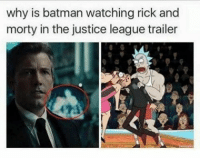 Wubba lubba dub dub heated yyc: why is batman watching rick and  morty in the justice league trailer Wubba lubba dub dub heated yyc