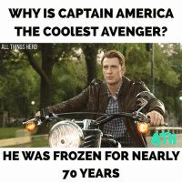 America, Batman, and Frozen: WHY IS CAPTAIN AMERICA  THE COOLEST AVENGER?  ALL THINGS HERO  ATH  HE WAS FROZEN FOR NEARLY  70 YEARS I just saw Spider-Man: homecoming and it was amazing. It's honestly a perfect balance between the two previous SpiderMan franchises. Great action, funny but not too cheesy, and it has a good villain. I think it's safe to say Tom holland is my favorite spidey so far. If you guys want I can do a full non spoiler review later. Let me know. SpiderMan tomholland marissatomei robertdowneyjr peterparker auntmay tonystark queens newyork marvel captainamerica chrisevans steverogers avengers infinitywar benaffleck jasonmomoa aquaman babydriver Batman dbz dbk goku powerrangers spongebob chloebennet