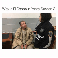 Dank, El Chapo, and Memes: Why is El Chapo in Yeezy Season 3  IG: @PabloPiqasso Follow @comedy.com for more dank memes 🔥🔥