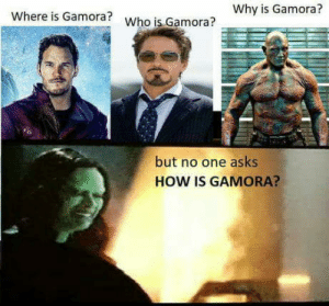 Club, Tumblr, and Blog: Why is Gamora?  Where is Gamora?  Who is Gamora?  but no one asks  HOW IS GAMORA? laughoutloud-club:  Where is parker ?