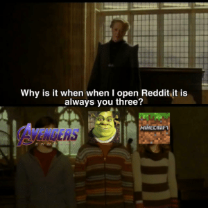 Dank, Internet, and Memes: Why is it when when I open Reddit it is  always you three'?  AVENERS  MINECRAFT  E N D Holy trinity of the internet by eduve1708 MORE MEMES