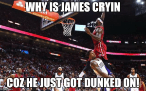 Why Is James Cryin