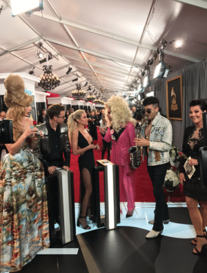 Grammys, Kris Jenner, and Run: why is Katya yelling at Kristin Cavallari while Kris Jenner jams out to someone playing the Run Away With Me saxophone intro at the Grammys