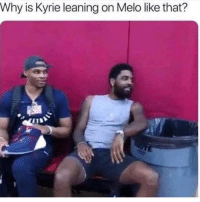 Juice, Memes, and Work: Why is Kyrie leaning on Melo like that? Dawg Melo straight garbage juice now. I seen brown shirts that would probably give him work at the park. it's sad. where y'all think he headed or should he just retire ?