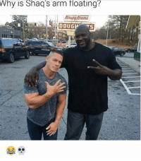 DoubleTap if you understand this 💀😂: Why is Shaq's arm floating?  DOUG  TS DoubleTap if you understand this 💀😂