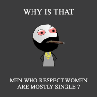 belikebro: WHY IS THAT  MEN WHO RESPECT WOMEN  ARE MOSTLY SINGLE? belikebro