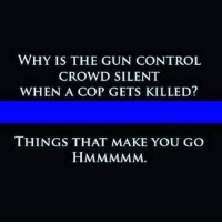 Friends, Guns, and Memes: WHY IS THE GUN CONTROL  CROWD SILENT  WHEN A COP GETS KILLED?  THINGS THAT MAKE YOU GO Question - Tag friends & Follow 🔊 👉🏽 @unclesamsmisguidedchildren - UncleSamsMisguidedChildren tactical military weapons guns militarymuscle 2ndamendment secondammendment 2A airforce USMC navy army gunlife Police BackTheBlue veteranlife MAGA Glock NRA gunrange MakeAmericaGreatAgain gunsofinstagram igmilitia ar15 targetpractice pewpew Pewpewpew DonaldTrump MolonLabe