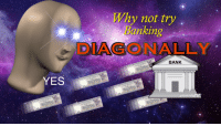 Bank, Banking, and Yes: Why not try  Banking  DIAGONALLY  BANK  YES