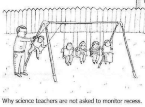 True: Why science teachers are not asked to monitor recess. True