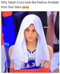 Memes, Padme Amidala, and Star Wars: Why Steph Curry look like Padme Amidala  from Star Wars  NBAMEMES Still can't get over this 😂 WarriorsNation StephCurry