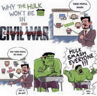 Funny, The Hulk, and Big: WHY THE HULK  WON'T BE  IN  MARMEI  AND THESE PEOPLE,  No SMASH.  GOT IT,  BIG GUY  THESE PEOPLE,  SMASH.  HULK  EVERYONE  SIGHT Makes sense..
