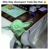 Funny, Lol, and Yoda: why they disrespect Yoda like that Wrong for this lol