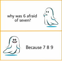 G(old): why was 6 afraid  of seven?  Because 789 G(old)