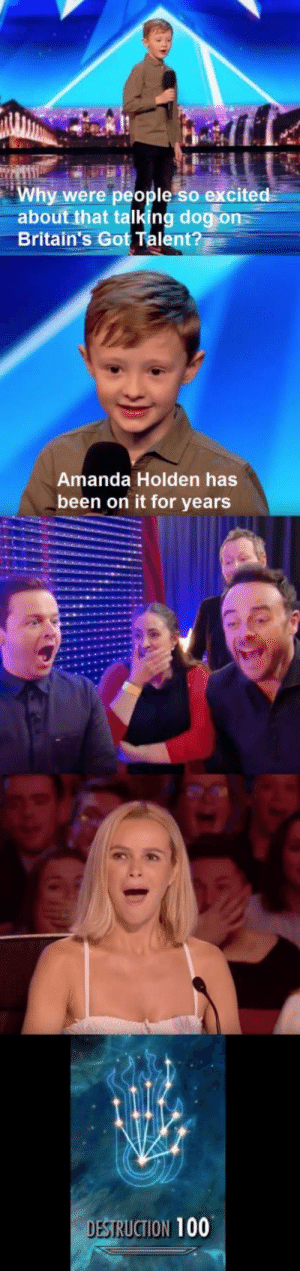 Proper savage lad (i.imgur.com): Why were people so excited  about that talking dogion  Britain's Got Talent?  Amanda Holden has  been on it for years  DESI  SRUCTION 100 Proper savage lad (i.imgur.com)