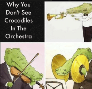 Crocco: Why You  Don't See  Crocodiles  In The  Orchestra Crocco