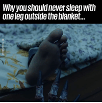 Dank, Too Much, and Never: Why youshould never sleep with  one legoutside the blanket This is WAY too much... 👀😳