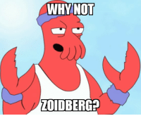 Tired of Trump and anti-vaxxer posts?: WHYNOT  ZOIDBERG? Tired of Trump and anti-vaxxer posts?