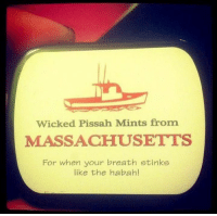 Memes, Massachusetts, and Wicked: Wicked Pissah Mints from  MASSACHUSETTS  For when your breath stinks  like the habah!