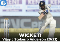 IND vs ENG, 2nd Test, Day 1: IND - 22/2 (5)   Murali Vijay departs. James Anderson gets his first wicket.: WICKET!  Vijay c Stokes b Anderson 20(21)  unnea- cornea  nea urnEu  durned-domEg win  urne a win IND vs ENG, 2nd Test, Day 1: IND - 22/2 (5)   Murali Vijay departs. James Anderson gets his first wicket.
