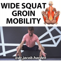 LOOSEN UP FOR A BETTER SQUAT The squat requires a good deal of mobility in order to get into a good position. And the wider you go, the harder it can be to achieve an optimal depth. This is because as you go wide, a muscle called the ADDUCTOR MAGNUS comes onto stretch.↔️ . The adductor magnus attaches from the pelvis and inserts onto the back-inside of the femur. It adducts and extends the hip, so going into a wide squat, where the hip is abducted and flexed, places it onto stretch. This is one possible reason why you may get a butt wink in the bottom of the squat as the pelvis gets pulled under.↪ . So in order to create more mobility and integrate it into our positions, we're going to use some isometric holds. . 🔸️Sit back into the wall and open the hips as wide as possible. The wall allows us to relax and focus on getting into the stretch. 🔸️Once you have the stretch, hold the glutes tight and rock off the wall and try to hold. 🔸️Hold for a 10 count, keeping the knees pulled out the whole time. 🔸️Stay at that depth or sink lower if you can and repeat the 10 count hold. Accumulate 1 to 3 minutes per day and your mobility will start opening quickly. . Tag a friend who needs better groin mobility and share the wealth! MyodetoxOrlando Myodetox: WIDE SQUAT  GROIN  MOBILITY  @dr.jacob.harden LOOSEN UP FOR A BETTER SQUAT The squat requires a good deal of mobility in order to get into a good position. And the wider you go, the harder it can be to achieve an optimal depth. This is because as you go wide, a muscle called the ADDUCTOR MAGNUS comes onto stretch.↔️ . The adductor magnus attaches from the pelvis and inserts onto the back-inside of the femur. It adducts and extends the hip, so going into a wide squat, where the hip is abducted and flexed, places it onto stretch. This is one possible reason why you may get a butt wink in the bottom of the squat as the pelvis gets pulled under.↪ . So in order to create more mobility and integrate it into our positions, we're going to use some isometric holds. . 🔸️Sit back into the wall and open the hips as wide as possible. The wall allows us to relax and focus on getting into the stretch. 🔸️Once you have the stretch, hold the glutes tight and rock off the wall and try to hold. 🔸️Hold for a 10 count, keeping the knees pulled out the whole time. 🔸️Stay at that depth or sink lower if you can and repeat the 10 count hold. Accumulate 1 to 3 minutes per day and your mobility will start opening quickly. . Tag a friend who needs better groin mobility and share the wealth! MyodetoxOrlando Myodetox