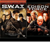 """These early 2000's action movies have virtually the same DVD cover: WIDESCREEN SPECIAL EDITION  Samuel L JADSON Colin FARRELL Michela RODRIGUEZ LL COOL J  JUSTIN  FOIRC E  NoOne Is  Above The Law  """"THE BEST COP FILM SINC  TRAINING DAY. These early 2000's action movies have virtually the same DVD cover"""