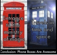 ravel: WIELEPHONE  Entrance  ravels in  to the  time an  ministry  Space  of magic  Conclusion: Phone Boxes Are Awesome