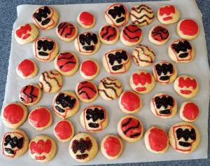Wife made me PewDiePie cookies after a bad day at work. Stress is magically gone!: Wife made me PewDiePie cookies after a bad day at work. Stress is magically gone!