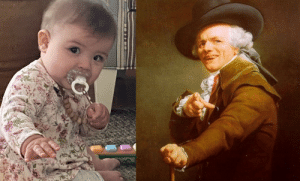 Wife sent me this picture of our daughter today, and I instantly thought of this: Wife sent me this picture of our daughter today, and I instantly thought of this