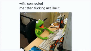 Weve all done it at least once. by Meme_War_Pepe MORE MEMES: wifi connected  me:then fucking act like it Weve all done it at least once. by Meme_War_Pepe MORE MEMES